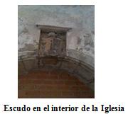 Escudo en el interior de la iglesia