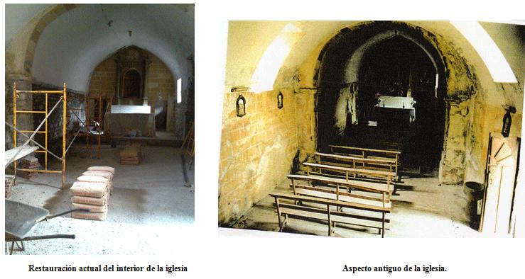 Obras en la Iglesia de Piedrafita