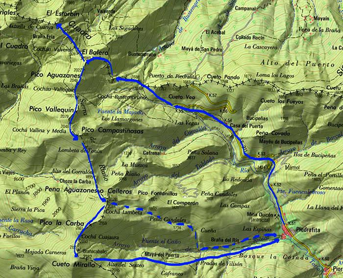 mapa Piedrafita