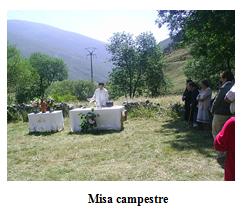 Misa campestre en Piedrafita
