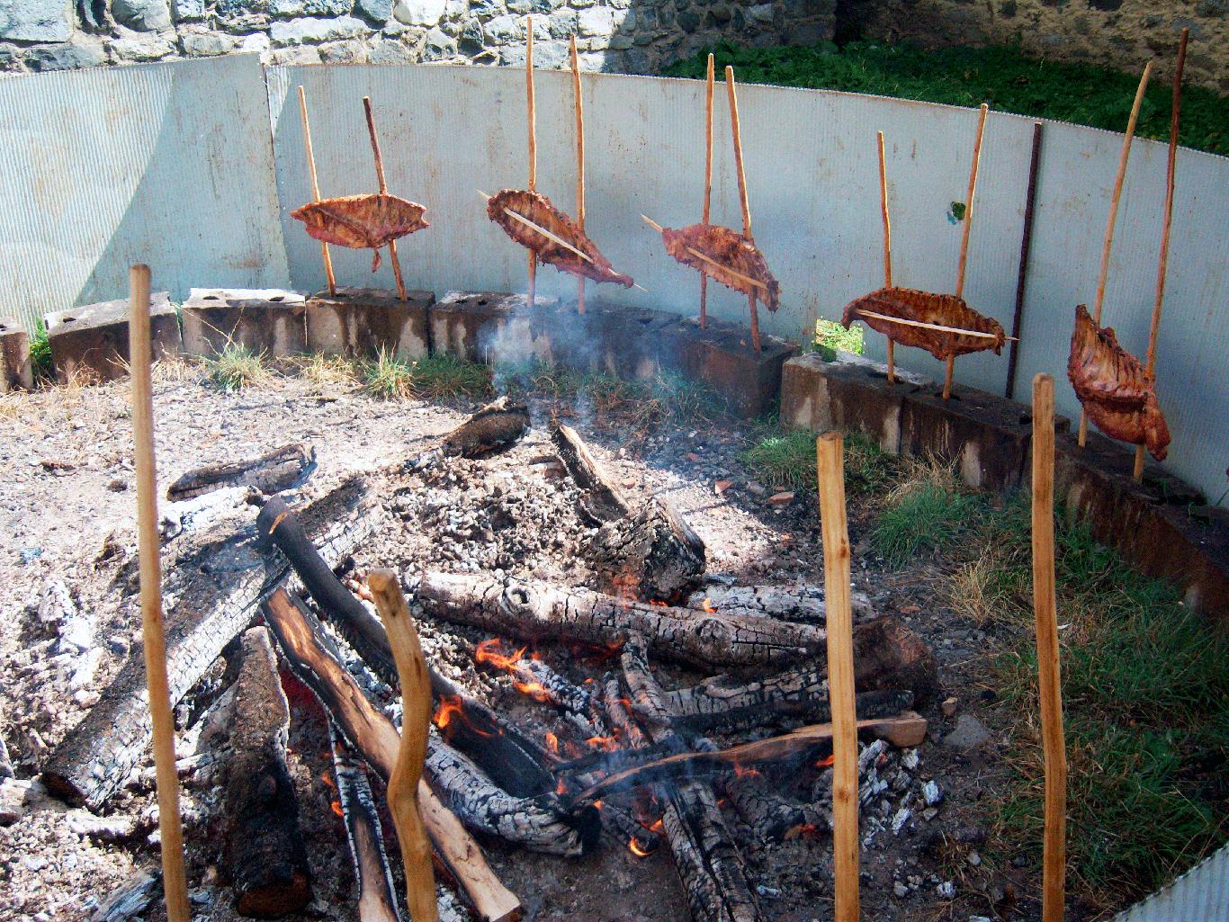 Comer-Piedrafita - cordero a la estaca