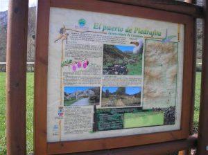 cartel informativo rutas y paisaje
